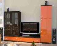 Горка мебельная с оранжевыми фасадами z300191